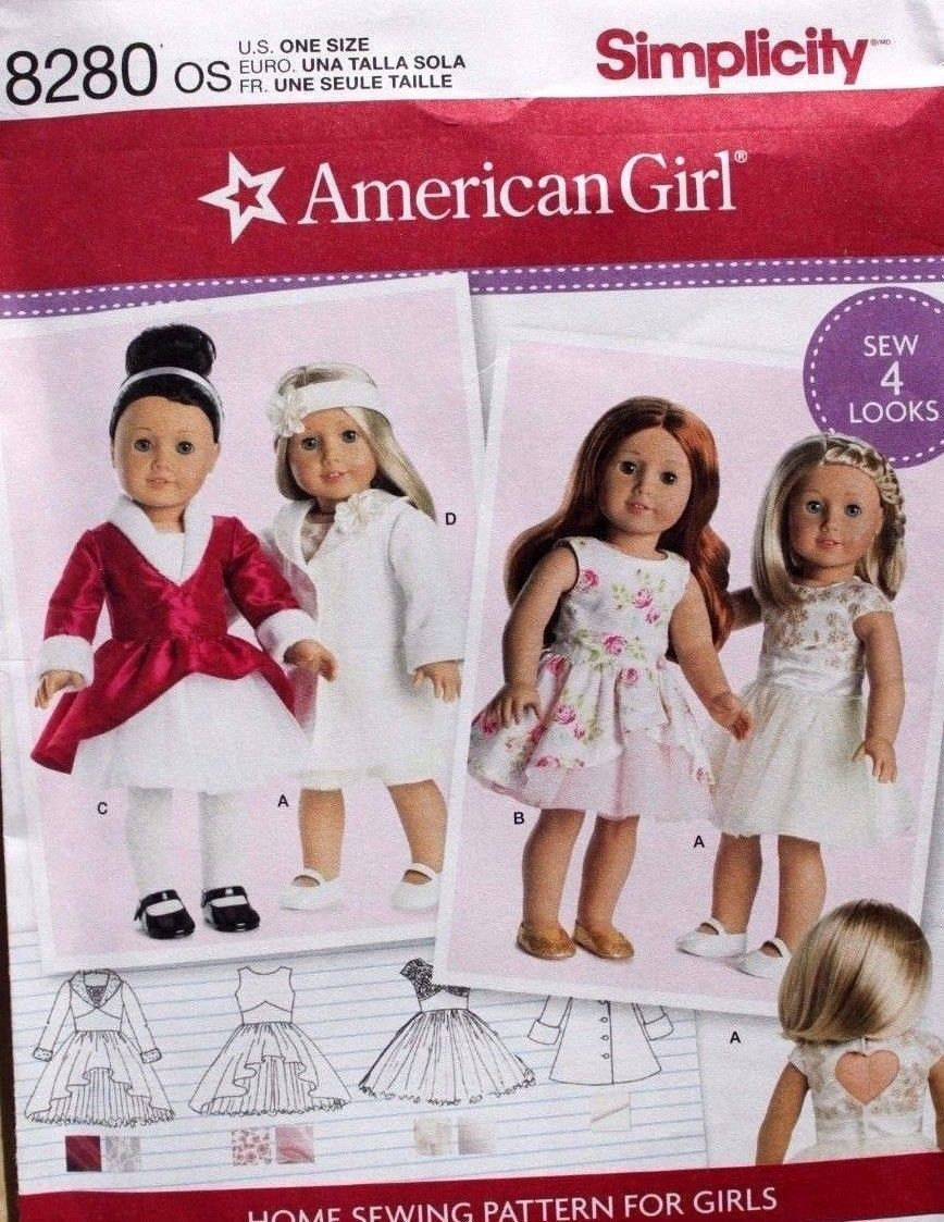 Simplicity 8280 18 American Girl Doll And 50 Similar Items