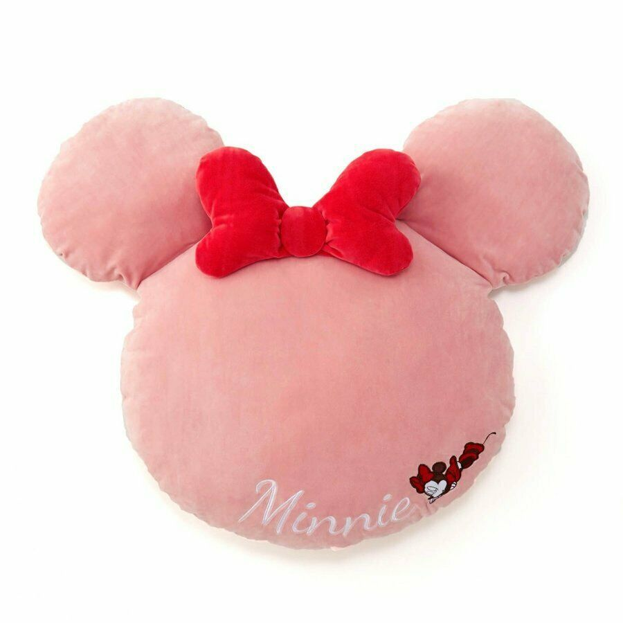 Disney Minnie Mouse  Big chewy Microfiber cushion Soft pillow Pinkribbon Macaron image 1