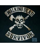 The Walking Dead TV Series Walker Survivor Crossed Head Logo T-Shirt NEW... - $17.41+