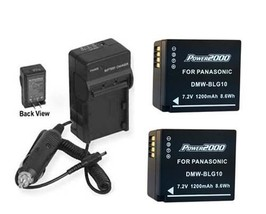Two 2 DMW-BLG10GK DMW-BLG10PP Batteries + Charger For Panasonic DMC-GF6 DMC-GF6X - $35.94