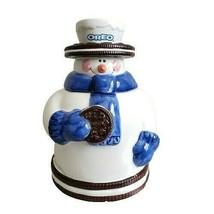 "Nabisco Oreo Snowman Cookie Jar 8.25"" - $43.49"