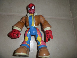 "spiderman hero figure in flight jacket.6"" jointed.Marvel toy biz 2003 - $3.99"