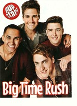Big Time Rush teen magazine pinup clipping Bop dimples Popstar boy band - $1.50