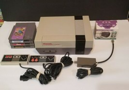 Nintendo Entertainment System NES-001 Bundle 2 Controllers Cables Games TESTED - $118.79