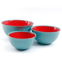 Gibson Home General Store Cottage Chic 3 Piece Bowl Set, Blue/Red - $879,47 MXN