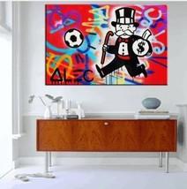 Alec Monopoly Banksy HD Print on Canvas Graffiti art wall decor Soccer 2... - $29.69