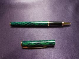 Green & Gold Sheaffer Ballpoint Pen in Original Red and Gold Box image 7
