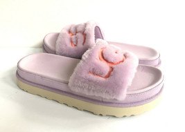 UGG LATON FUR SLIDE CALIFORNIA ASTER UGG EMBROIDERY SANDAL US 6 / EU 37 ... - $88.83