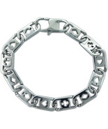 "Men's Stainless Steel Bracelet deck of cards Link Chain Biker Gothic 8.5"" - $27.76"