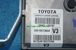 Toyota Matrix Computer Engine Control Module ECU ECM 09 10 89661-02v30 image 2