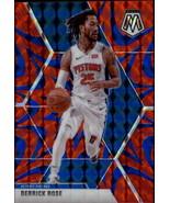 2019-20 Panini Mosaic Retroactive Blue #67 Derrick Rose Pistons - $8.95
