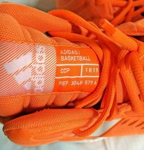 adidas SM Mad Bounce Mens 12.5 D97371 Basketball Shoes Orange & White 2018 image 10