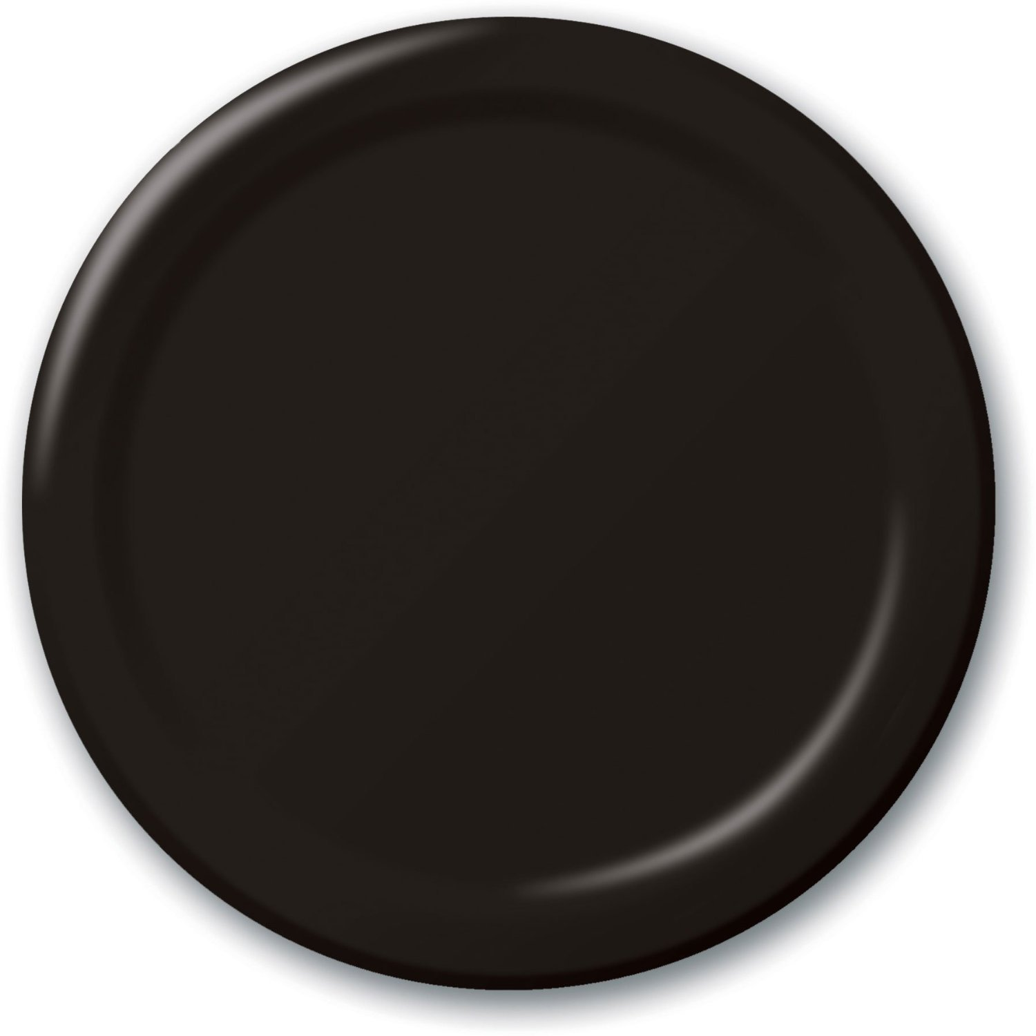 "24 Plates 10"" Paper Dinner Lunch Plates Wax Coated - Black"