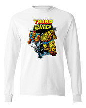 Doc Savage T-shirt Long Sleeve retro Marvel Comics 80s vintage 100% cotton image 2