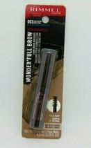 RIMMEL WONDER'FULL BROW  24Hr Brow Mascara 003 Dark Brown 0.15oz./4.5ml NIP - $7.87