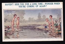 Haven't Seen You For A Long Time Vintage Postcard Artist Signed D. Tempest - $3.36