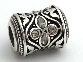 Brighton Mumtaz Love Bead Charm Jc1711 Silver Finish, New - $21.84