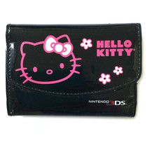 Nintendo 3DS Hello Kitty Carrying Case Black Pink Kitty Portable Light P... - $10.25