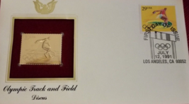 OLYMPIC TRACK & FIELD - Discus  FIRST DAY OF ISSUE STAMP: Jul. 12, 1991 - $8.50