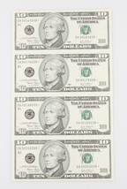 SHEET OF FOUR (4) UNCUT 2003 $10 STAR NOTES W/ VINYL FOLDER AND INSERT - $138.60