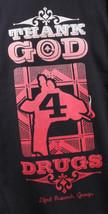 LRG Mens Black Thank God 4 Drugs Giraf Smoking Trees T-Shirt C121033 NWT image 2