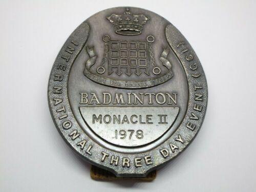 Vintage 1978 Monacle II Badminton Badge Medal Award International Metal