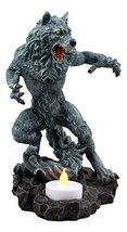 Ebros Gothic Werewolf Tea Light Candle Holder Statue Lycan Beast Wolf Ma... - $22.99