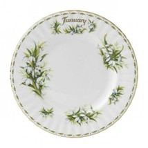 Royal Albert Sweet  JANUARY  Flower of the Month LUNCH PLATE NEW IN THE ... - $34.64
