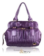 "NEW Chloe ""Bay Bag"" Purple Leather Tote Bag Handbag - $620.00"