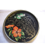 Tin metal Plate Florida State Home Decoration - $7.09