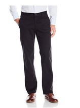 Lee Men's Weekend Chino Straight Fit Flat Front Pant  BLACK 30X30 - $18.99