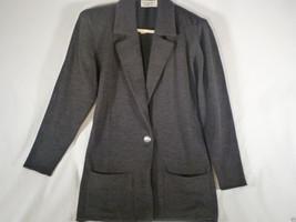 Vintage St John Sportswear 2-Pc Knit Black Sweater-Jacket w Pants Sz 4 - $62.89