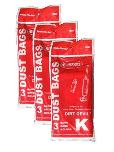 EnviroCare 9 Royal Dirt Devil Type K Stick Vac Vacuum Cleaner Bags