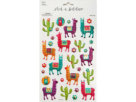 Paper Studio Stickabilities Llama Puffy Stickers #1834225