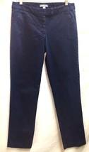 New York & Co Blue Denim Slacks Pants Jeans 8 Blue - $21.77