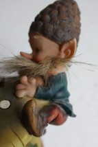 Dwarf Mushroom Money Box Resin Figurine Painted Forest Gnome Collectible... - $29.69