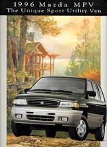 1996 Mazda MPV sales brochure catalog US 96 LX ES V6 4WD - $8.00