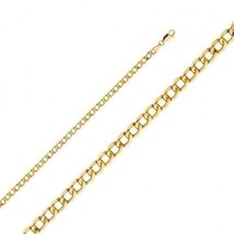 """20k Cuban Link Yellow Gold Chain Necklace Solid Curb 4.3 mm 20"""" 22"""" 24"""" ... - $989.01+"""