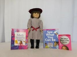 American Girl Doll Samantha Pleasant Company Velvet Hat Plaid Dress + Books - $119.81