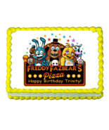 FNaF Five nights at Freddy's edible cake image cake topper party decoration - $7.80