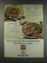 1991 Campbell's Cream of Mushroom Soup Ad - Sensational Beef Stroganoff - $14.99