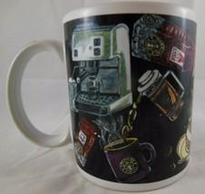 Starbucks Mug French press capuchino and latte Coffee Cup Spoon Sugar cubes - $13.85