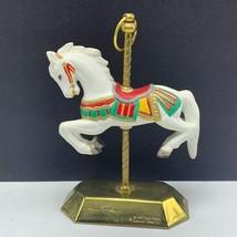 Carousel Horse Sculpture Figurine Statue Christmas Tobin Fraley 1992 Hallmark - $34.65