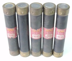 LOT OF 5 FUSETRON FRS-60 DUAL ELEMENT TIME DELAY CLASS K5 FUSES 60AMP