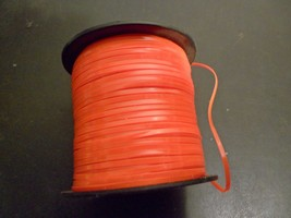 "Rexlace Plastic Lacing Pepperell 3/32"" Wide 100 Yards Spool Neon Orange - $2.00"