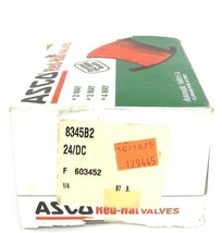 NIB ASCO 8345B2 SOLENOID VALVE 24/DC, 1/4 PIPE, 11.2 WATTS, 10-100PSI