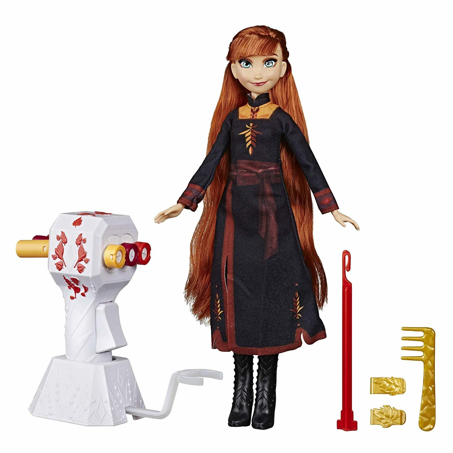 Image 0 of Disney Frozen Sister Styles Anna Fashion Doll, Extra-Long Red Hair Braiding Tool