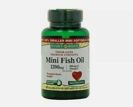 2-90 Mini Fish Oil 1290mg Omega-3 Nature's Bounty Supplement Vitamin Heart 180 - $50.89