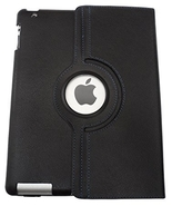 Black Rotating Case Cover for Apple iPad 2/3/4 With 3  - $14.99
