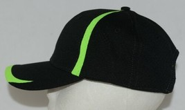 Augusta Sportswear Adult Black And Lime Green Sports Hat image 2